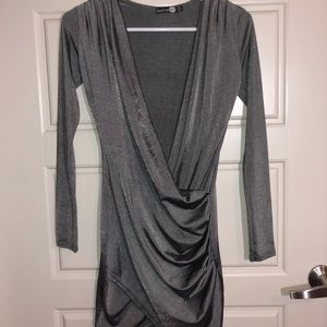 Boohoo Gray Dress
